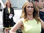 All set for spring! Jennifer Love Hewitt goes green while filming The Client List