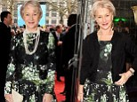Wardrobe favourite? Helen Mirren wears the same floral dress she showcased just two days ago to Prince's Trust Success Awards