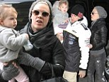 Pink, along with daughter Willow and husband Carey Hart, grab a bite to eat at La Esquina in SoHo, New York