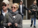 Robin Wright and Ben Foster out for walk after eating lunch in Manhattan