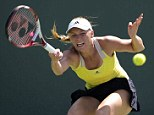 Powerful: Caroline Wozniacki is among the world's leading talents