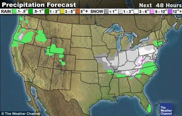 Forecast: Having dumped on the Midwest, the snowstorm is headed for the East Coast