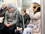 Not your average commuter: Sarah Jessica Parker was seen riding the Subway alongside husband Matthew Broderick and son James Wilkie Broderick in New York City on Monday
