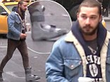 La boot indeed! Shia LaBeouf limps around New York