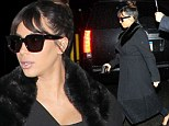 Pregnant Kim Kardashian goes out in NYC for dinner with friend Simon