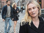 Diane shows off her toned legs as she enjoys a romantic date night with boyfriend of seven years Joshua Jackson
