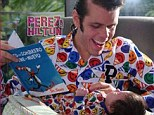 Smiles all around! Perez Hilton celebrates his birthday with his son in matching pajama sets