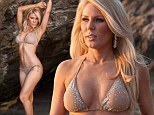 She's got the body for it! Gretchen Rossi models her new swimwear range in sunset shoot