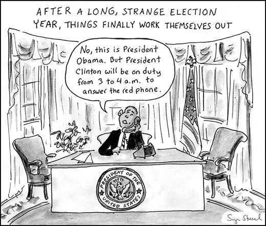 obama and hillary election 2008  cartoon