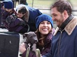 Tom Hardy and Noomi Rapace on set of Animal Rescue on Tuesday
