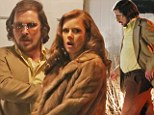 Caught in the act? Amy Adams and Christian Bale look shady as they film scenes for new movie