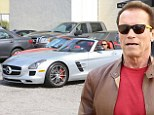 Now he governs the road! Arnold Schwarzenegger cruises around Beverly Hills in his £176K Mercedes-Benz convertible