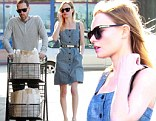 Kate Bosworth and Michael Polish at the grocery store in Hollywood