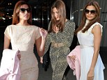 Once, twice, three times a lady! Eva Mendes goes from look to look during a busy night in New York