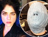 Is that you Selma? Blair teases fans with picture of her face hidden behind grey mask... and hints she's filming Hellboy III