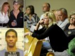 A judge in Knoxville, Tennessee has ruled that if relatives of Channon Christian and Christopher Newsom wear the badges, they must sit 'two or three rows' behind suspect George Thomas.