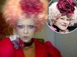 May the odds be ever in your favour: Tara Reid transforms into Hunger Games character Effie Trinket for new film