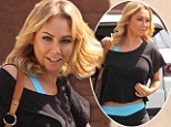 DWTS professional Kym Johnson flashes her toned tummy in crop top as she arrives for rehearsal