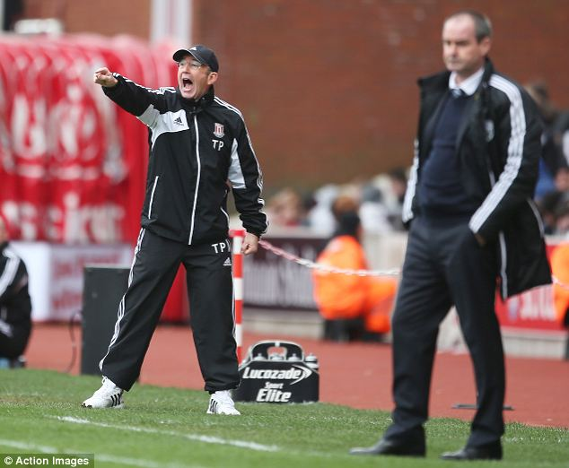 Touch and go: Stoke City manager Tony Pulis (L) and West Bromwich Albion manager Steve Clarke