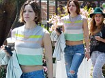Not a fashion smash! Katherine McPhee flashes her midriff as she enjoys a day out in Los Angeles