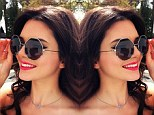 Seeing double! A grown-up Kendall Jenner posts mirror image of herself wearing chic octagonal glasses during photo shoot for her new clothing line