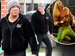 Nice meggings! Tough man Mickey Rourke dons runners¿ leggings for his vigorous workouts