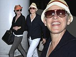 Back in the states! Ellen DeGeneres and Portia de Rossi return to the US after a whirlwind Australia tour