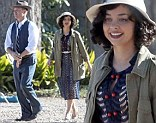 The Barrow Gang is back as filming begins with Lane Garrison playing the part of Marvin 'Buck' Barrow and Sarah Hyland playing his wife Blanche