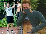 No pain, no gain! Chris Martin looks wrecked as he works up a sweat during gruelling work out session