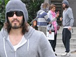 Best foot forward! Russell Brand goes on outing in Hollywood wearing his slippers