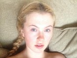Bare-faced beauty: Ireland Baldwin shows off her youthful model looks in a revealing Twitter photo
