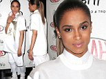 Out of this world: Ciara dons spaceman- style suit from Givenchy menswear collection... but still looks stunning