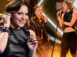 Ab-solutely Smash-ing! Katharine McPhee flashes her toned tummy as she returns to American Idol stage