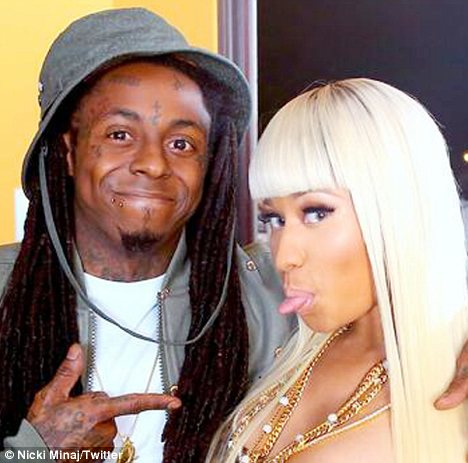Famous friends: Nicki Minaj posted this photo of herself and Wayne to her Twitter page on Tuesday