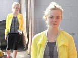 Bright as her future! Elle Fanning heads to dance class sporting cheery colours