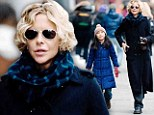 Mother-daughter day! Meg Ryan bundles up for brisk stroll with her adopted daughter Daisy
