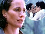 'My character was in love... not even thinking about the fricking rain!' Andie MacDowell defends THAT Four Weddings line
