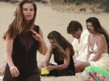 Make-up free Maria Shriver shows off her curves in sheer cover-up while on Hawaiian holiday with son Patrick Schwarzenegger and daughter Katherine