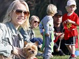 Naomi Watts and Liev Schreiber watch their sons compete against each other at soccer practice