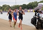 Alistair Brownlee leads in the run leg of Triathlon
