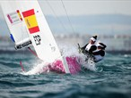 Spain on their way to gold in the women's Elliott Sailing