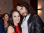 Nice to meet you: Russell Brand poses for a photo with Maya Stojan at the Meditation in Education Global Outreach Campaign launch