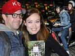 It's a Wilde ride! Jason Sudeikis gives fiancee Olivia a lift on his Vespa after they attend booksigning event