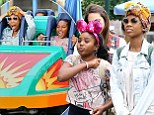 An early bachelorette party? Brandy Norwood and her maid of honour daughter Sy'rai spend the day at Disney California