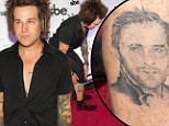 Dangerous game: Ryan Cabrera got a tattoo of Ryan Gosling as part of a dare