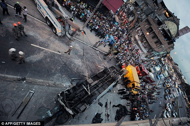 The horrifying accident in the Brazilian capital left seven people dead and 11 injured