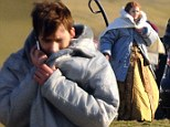Did somebody call a Doctor? David Tennant returns to Time Lord role as he joins Joanna Page on set of 50th anniversary special