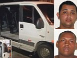 Jonathan Froudakis de Souza (left) and Wallace Aparecido Silva (right) have been accused of raping an American tourist on a minibus in Rio de Janeiro