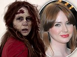 Karen Gillan looks in desperate need of a Doctor as she transforms into a zombie for spoof make-up advert