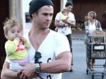 Chris Hemsworth and his wife Elsa Pataky take their daughter India grocery shopping at Whole Foods in Venice, California